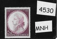 MNH Germany stamp / Third Reich WWII / 1941 issue / Wolfgang Amadeus Mozart