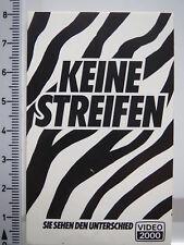 Aufkleber Sticker Video 2000 - Keine Streifen - 80er Jahre - Decal (2483)