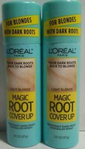 2 Loreal Magic Root Cover Up Light Blonde Concealer Spray 2.0 oz