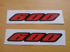 Suzuki GSXR 600 Stickers Motorbike Motorcycle Vinyl  Decals x2 @ 152 x 25mm