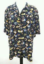 ELISABETH LIZ CLAIBORNE Womens Europe Travel Print VINTAGE Top Shirt Plus SZ 18