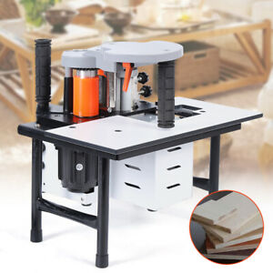 765W Woodworking Edge Banding Machine Portable Edge Bander Double Side Gluing