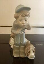 Original Lladro Hunter Puppet With Dog Figurine