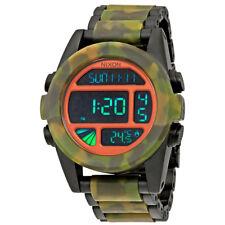 Nixon Unit SS Matte Black and Camo Mens Digital Watch A3601428
