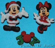 MICKEY & MINNIE CHRISTMAS - Disney Mouse Santa Suit Dress It Up Craft Buttons