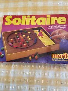 Vintage Merit Solitaire Game