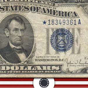 1934-C $5 SILVER CERTIFICATE *STAR* Fr 1654*  *18349361A-WUZ