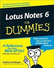 Lotus Notes 6 for Dummies by Stephen Londergan (2002, Paperback)