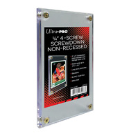 (1) Ultra Pro 4-Screw Screwdown Trading Card Holder Regular Non-Recessed