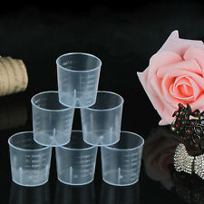 High 5Pcs 30ml 1oz Plastic Measure Graduated Measuring Rice Medicine Cups Liquid