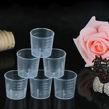 High 5Pcs 30ml 1oz Plastic Measure Graduated Measuring Rice Medicine Cups Liquid