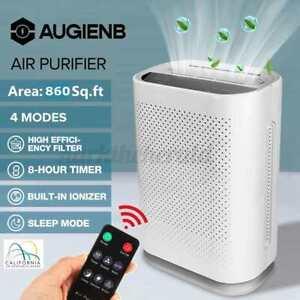 AUGIENB 4Gang Luftreiniger HEPA Filter Pollen 700m³/h Air Purifier 80m²Ionisator