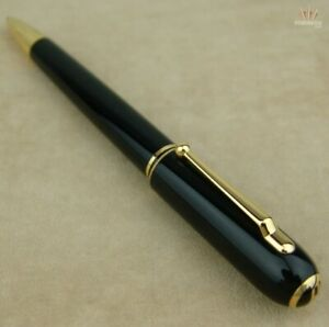 DUNHILL SIDECAR BLACK RESIN WITH GOLD PLATED FINISH BALL POINT PEN MAGNIFICENT!!