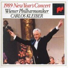 CARLOS KLEIBER & WIENER PHILHARMONIKER - NEUJAHRSKONZERT 1989  CD 16 TRACKS NEU