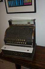 National Cash Register No 333 Nickel Plated Black Brass steampunk beautiful