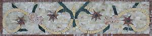Floral Simple Calm Skirting Floor Tile Border Marble Mosaic