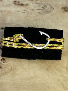Miansai Men's Silver Hook Rope Bracelet Yellow Rope NEW never Worn