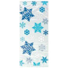 Blue Snowflake Cellophane Bags Christmas Cello Bag Party Decoration 20