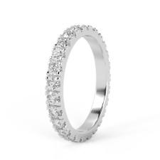 Special Offer..!! F/VS 1.00Ct Round Diamond Full Eternity Ring in 18k White Gold