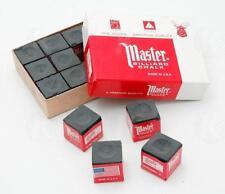 Master BLACK Pool Billiard Cue Q Stick Chalk Doz. Box 12-Pack 1 Dozen 12 ct.