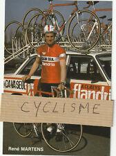 Carte signée de René MARTENS équipe Ca Va seul Flandria 1979
