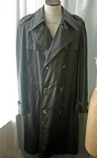 Vintage Abercrombie & Fitch Leather Men's Trenchcoat