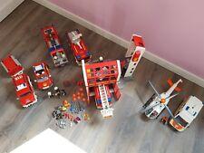 Playmobil Feuerwehr- Hauptquartier- Einsatzwagen- Rettungsdienst