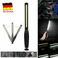 COB LED KFZ Arbeitsleuchte Magnet Akku Werkstattlampe Handlampe Stablampe