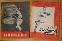 Brooklyn Dodgers Baseball Yearbooks 1949 1950 Great Condition!