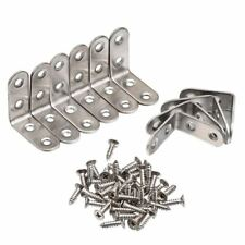 90 Degree Right Angle Brackets Stainless Steel Corner Braces with Screws, 1 L0T7