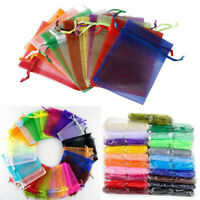100pcs Organza Bags Wedding Xmas Party Favor Gift Candy Jewelry Sheer Bag Pouch