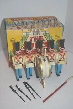 """Vintage 1960's Marx """"The Big Parade"""" Battery Operated Marching Band Toy - Works"""
