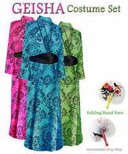 Geisha Damask Stencil Plus Size Halloween Costume Robe 1x 2x 3x 4x 5x 6x 8x
