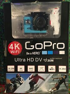 Be a Hero 4K WiFi Ultra HD Sports Waterproof Camera 16MP 170 Degrees, 30m Depth
