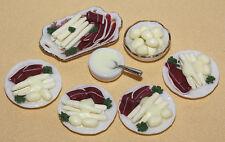 Spargel mit Schinken für 4 Personen / Miniatur-Lebensmittel*Miniatur 1:12 by BP*