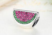 Watermelon Charms Original 100% 925 Sterling Silver bead Pandora charm