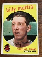 1958 or 1959  TOPPS   BASEBALL CARD #295 BILLY MARTIN  CLEVELAND INDIANS