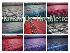Scottish Clans All Tartans Christmas Burns Night Poly-viscose Material Per Metre