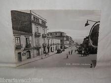 Vecchia cartolina foto d epoca di Nicastro viale stazione strada scorcio case