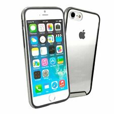 Tuff-luv Minimalist Bumper Shell Case cover for Apple iPhone 7 8 - Silber