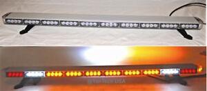 "50"" Amber LED Light Bar Tow Truck Plow Roll Back Police w/ CARGO & BRAKE LIGHTS"