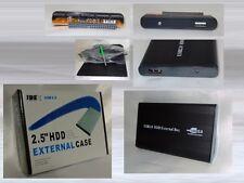 "Externes 2.5"" IDE Gehäuse USB 2.0 ALU Festplattengehäuse Festplatte Case Black"
