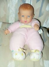"""14"""" Gerber Baby Soft Cloth Doll 1997, Orig Outfit - Toy Biz"""