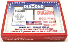 "US PLAYING CARDS🇺🇸""DIAMOND"" 2DECKS SEALED PLAYING CARDS 100% PLASTIC BRIDGE"