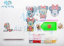 Minnie Mouse DIY 5D Diamond Painting Keyring Keychain Kit - Kids Fun Craft Gift