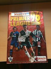 Merlin 96 Premier League 1996 Euro Panini like Album - UK 75% Complete