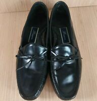 Bragano Black Leather Loafers Mens 10M