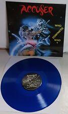 Accuser Who Dominates Who? BLUE Vinyl LP Record new Thrash Metal 100 made