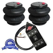 "AirRide Suspension Air Bags Pr 2600 1/2""npt Kit & CLEAR 7-Switch Controller"