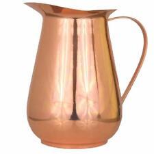 Copper Jug Copper Handle,Smooth Polished Copper Water Jug,Heavy Gauge 70 fl. Oz